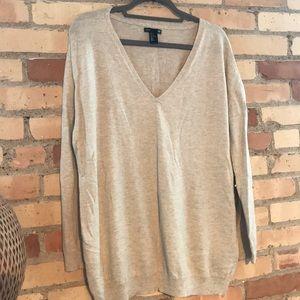 Oversized Oatmeal Sweater, lightly worn